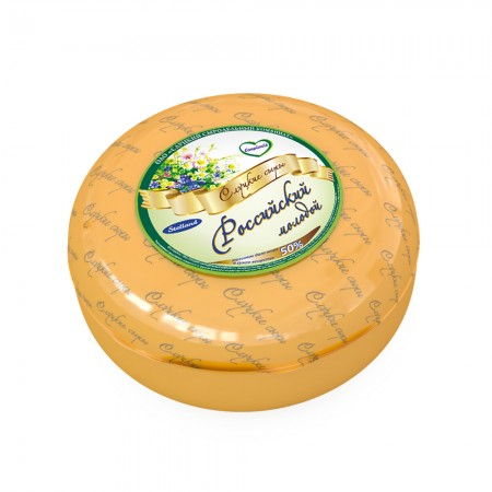 Cheese «Rossysky Molodoy» 50% (weight)